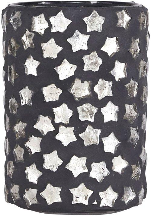 På billedet ser du variationen Fyrfadsstage, Big star fra brandet House Doctor i en størrelse D: 6,5 cm. x H: 9,5 cm. i farven Mørkegrå/Sølv