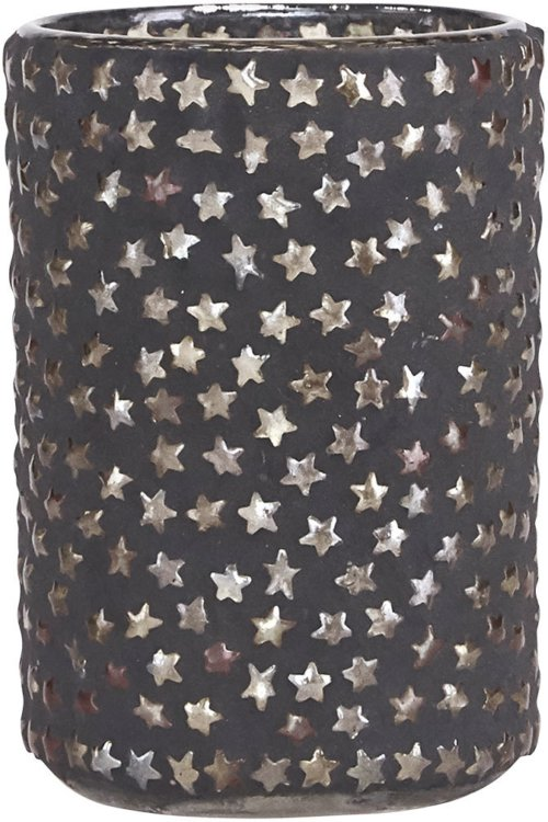På billedet ser du variationen Fyrfadsstage, Plenty star fra brandet House Doctor i en størrelse D: 6,5 cm. x H: 9,5 cm. i farven Mørkegrå/Sølv