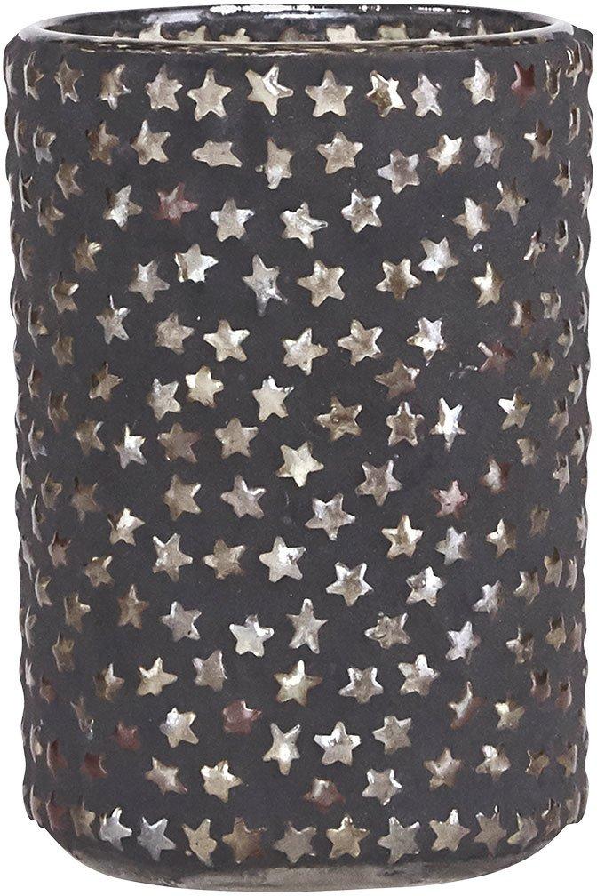 Image of   Fyrfadsstage, Plenty star by House Doctor (D: 6,5 cm. x H: 9,5 cm., Mørkegrå/Sølv)