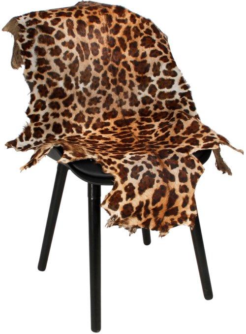 På billedet ser du Gedeskind, Leopard print fra brandet Preform i en størrelse B: 60 cm. L: 100 cm. i farven Sort/Orange
