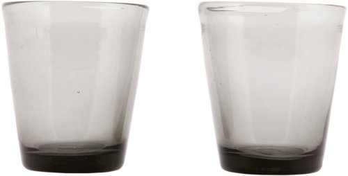 På billedet ser du variationen Houston, Glas fra brandet House Doctor i en størrelse D: 8 cm. x H: 9 cm. i farven Grå