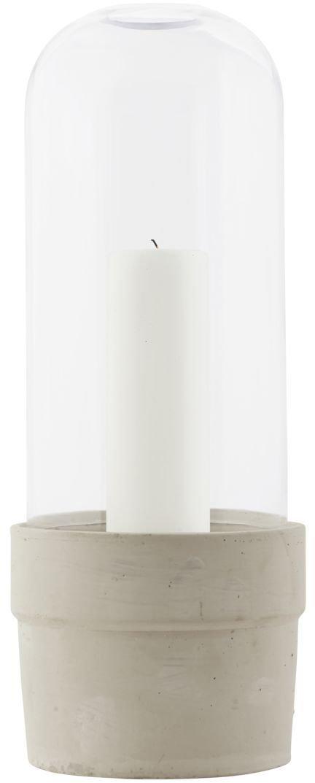 På billedet ser du variationen Glas klokke med potte fra brandet House Doctor i en størrelse D: 18,5 cm. x H: 32 cm. i farven Klar/Beton