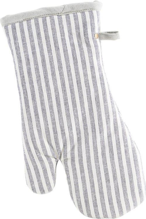 På billedet ser du variationen Grillhandsker, Polly, Stripe fra brandet House Doctor i en størrelse B: 18 cm. L: 32 cm. i farven Hvid/Grå