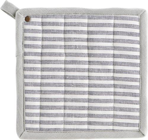 På billedet ser du variationen Grydelapper, Polly, Stripe fra brandet House Doctor i en størrelse B: 21 cm. L: 21 cm. i farven Hvid/Grå
