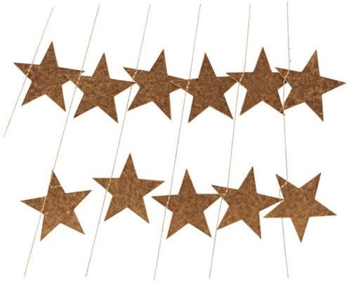 På billedet ser du variationen Guirlande, Stars fra brandet House Doctor i en størrelse L: 5 m. i farven Guld