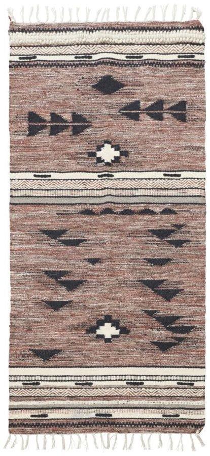 Image of   Gulvtæppe, Tribe by House Doctor (B: 90 cm. L: 200 cm., Brun)