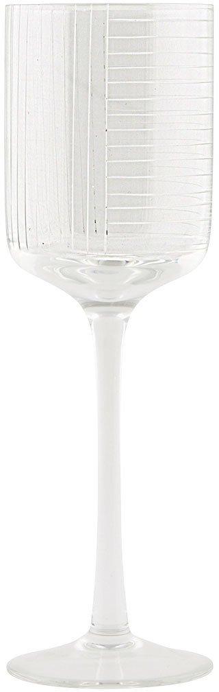 På billedet ser du variationen Check, Hvidvinsglas fra brandet House Doctor i en størrelse D: 7 cm. x H: 22 cm. i farven Klar