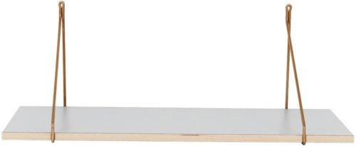 På billedet ser du variationen Hylde, Apart fra brandet House Doctor i en størrelse 70 x 24 x 1,5 cm. i farven Grå