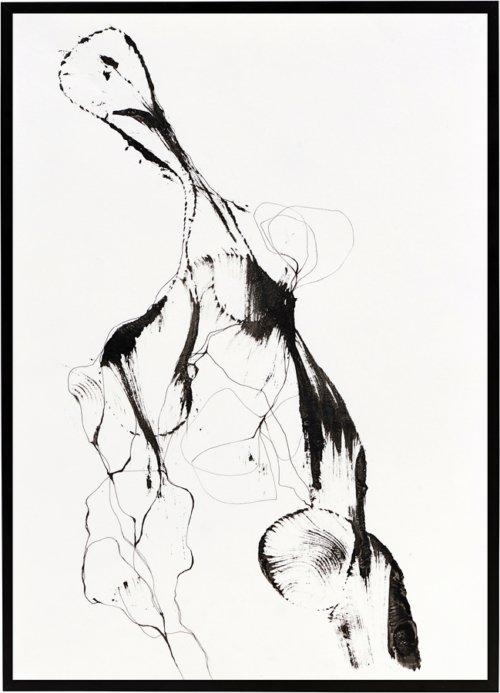 På billedet ser du variationen Illustration m. ramme, Ballet fra brandet House Doctor i en størrelse B: 32 cm. L: 45 cm. i farven Sort/Hvid