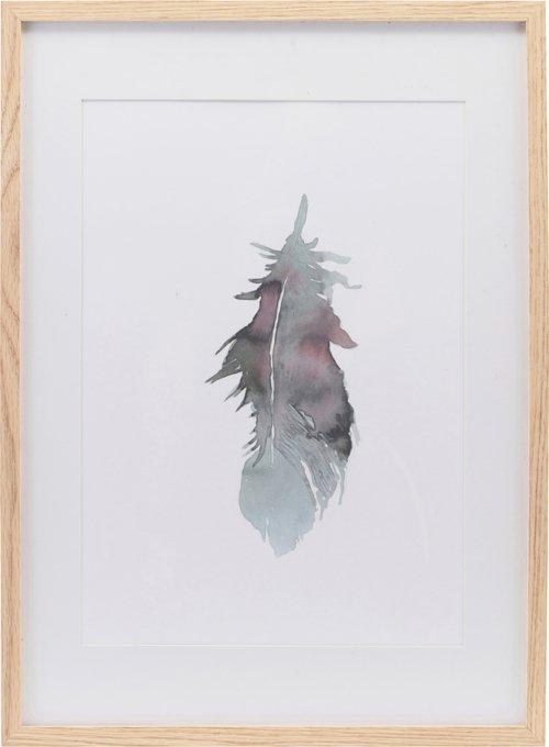 På billedet ser du variationen Illustration m. ramme, Feather fra brandet House Doctor i en størrelse H: 55 cm. B: 39,7 cm. i farven Natur