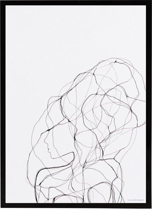 På billedet ser du variationen Illustration m. ramme, Pen 1 fra brandet House Doctor i en størrelse B: 21 cm. L: 29,5 cm. i farven Sort/Hvid