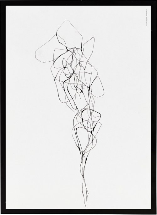 På billedet ser du variationen Illustration m. ramme, Pen 2 fra brandet House Doctor i en størrelse B: 21 cm. L: 29,5 cm. i farven Sort/Hvid