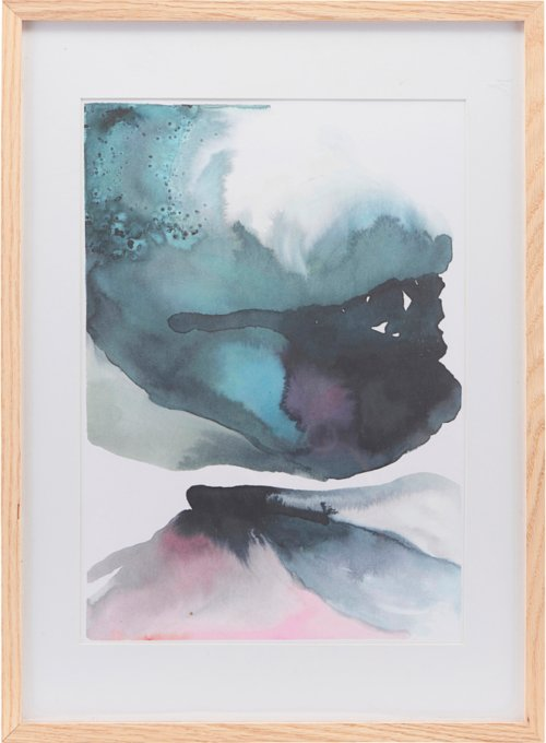 På billedet ser du variationen Illustration m. ramme, Vulcano fra brandet House Doctor i en størrelse H: 55 cm. B: 39,7 cm. i farven Natur