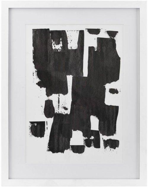 På billedet ser du variationen Illustration, Spatula, eg fra brandet House Doctor i en størrelse 55,5 x 43 cm. i farven Hvid