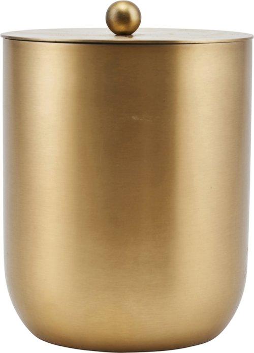 På billedet ser du variationen Is/Vin køler, Alir, Messing finish fra brandet House Doctor i en størrelse D: 12 cm. H: 14,5 cm. i farven Messing