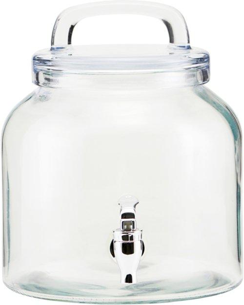På billedet ser du variationen Juice/lemonade beholder, Ice Cold fra brandet House Doctor i en størrelse D: 18,5 cm. H: 21 cm. i farven Glas