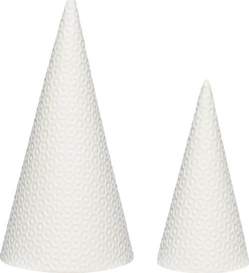 På billedet ser du variationen Juletræ, Wymond fra brandet Hübsch i en størrelse Sæt á 2 stk. i farven Hvid