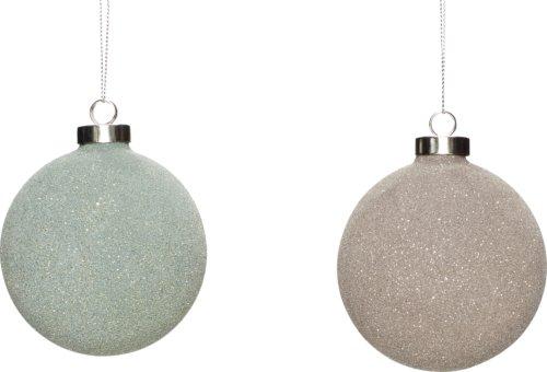 På billedet ser du variationen Julekugle, Bonifatius fra brandet Hübsch i en størrelse Ø: 8 cm. i farven Grøn/Brun