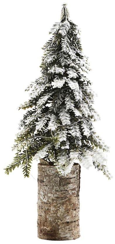 På billedet ser du variationen Juletræ, 20 LED pærer m. batteriknap fra brandet House Doctor i en størrelse H: 40 cm. B: 16 cm. L: 16 cm. i farven Hvid/Grøn