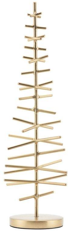 På billedet ser du variationen Juletræ, X-max fra brandet House Doctor i en størrelse D: 7,5 cm. H: 25,5 cm. i farven Messing
