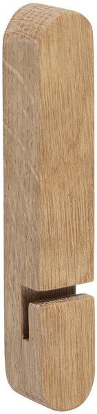 På billedet ser du variationen Knage, egetræ, Bevy fra brandet Hübsch i en størrelse H: 12 cm. B: 2 cm. L: 2 cm. i farven Natur