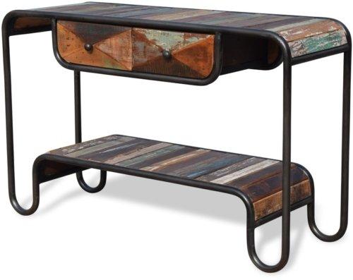 På billedet ser du Konsolbord i genbrugstræ, Christiania Hip fra brandet OBUZI i en størrelse H: 80 cm. B: 120 cm. L: 40 cm. i farven Multi