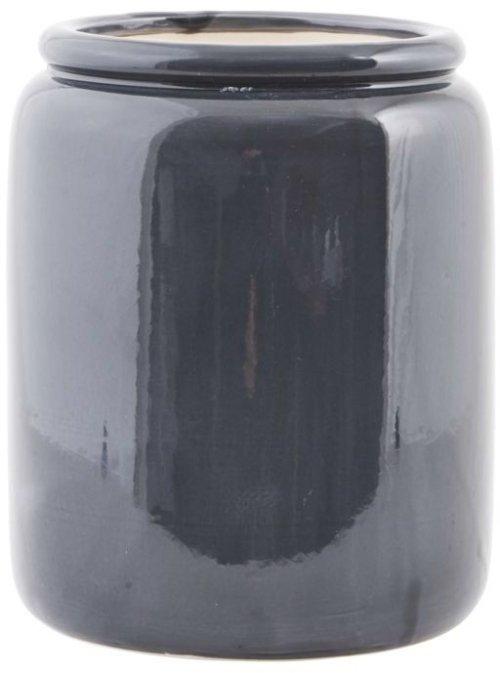 På billedet ser du variationen Just, Krukke fra brandet House Doctor i en størrelse D: 19 cm. x H: 23 cm. i farven Grå