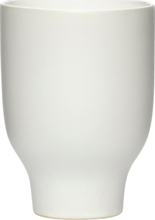 På billedet ser du variationen Krus, Aruna fra brandet Hübsch i en størrelse Ø: 9 cm. H: 12 cm. i farven Hvid