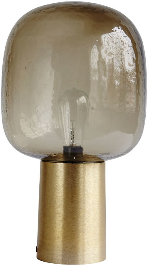 På billedet ser du variationen Note, Lampe fra brandet House Doctor i en størrelse D: 28 cm. x H: 52 cm. i farven Grå/Messing