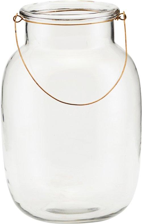 På billedet ser du variationen Lanterne, Adena fra brandet House Doctor i en størrelse D: 18 cm. H: 28 cm. i farven Glas