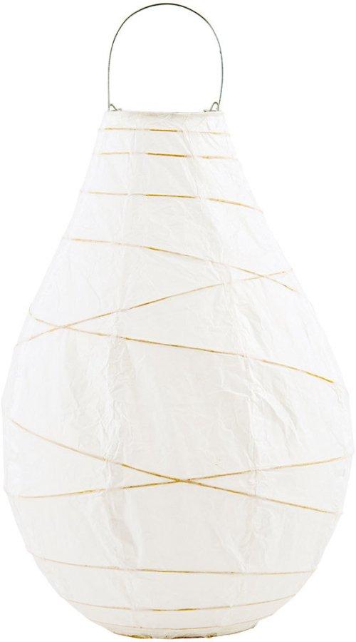 På billedet ser du variationen Drop, Lanterne fra brandet House Doctor i en størrelse D: 24 cm. x H: 35 cm. i farven Hvid