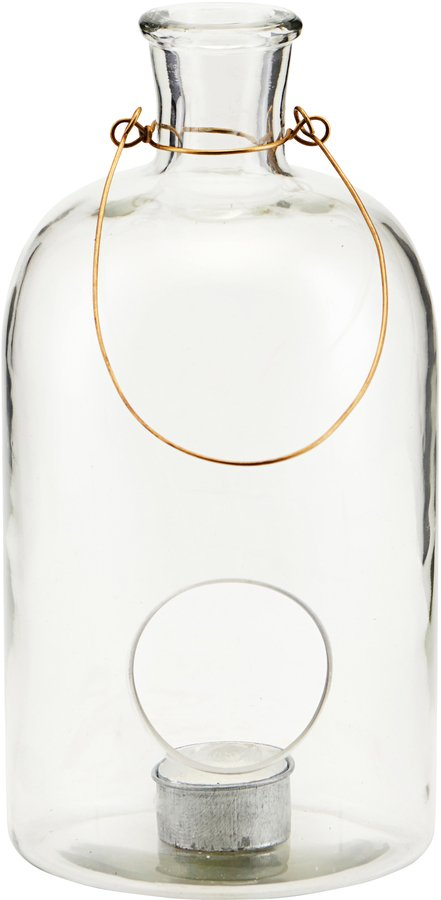 På billedet ser du variationen Lanterne, Frej fra brandet House Doctor i en størrelse D: 12 cm. H: 25 cm. i farven Glas