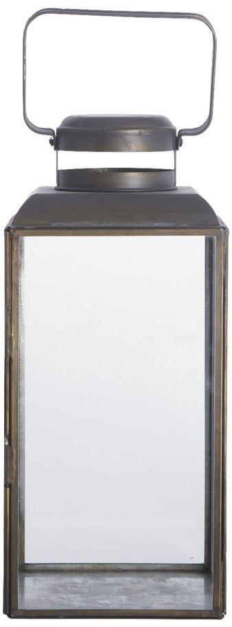 På billedet ser du variationen Vintage, Lanterne fra brandet House Doctor i en størrelse 14 x 14 cm. x H: 30 cm. i farven Sort