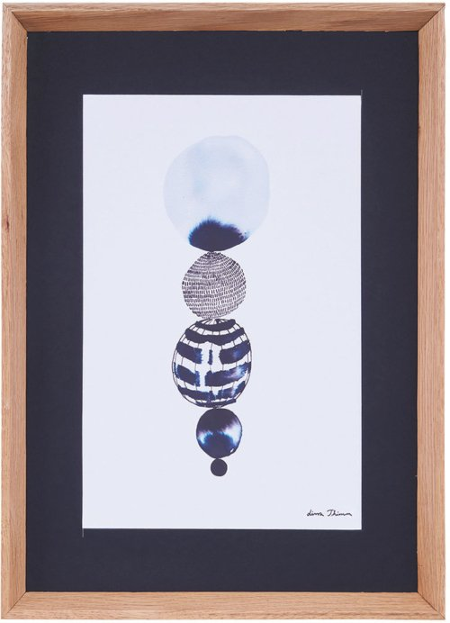 På billedet ser du variationen Lissa Thimm, Circle string fra brandet House Doctor i en størrelse 55 x 40 cm. i farven Natur