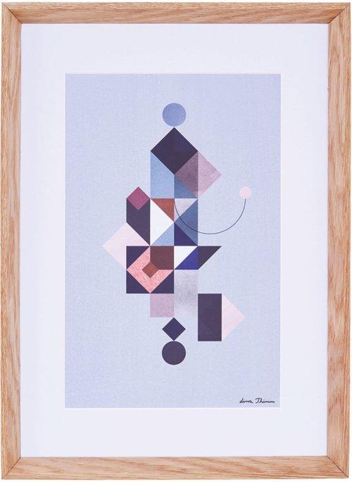 På billedet ser du variationen Lissa Thimm, Two geo fra brandet House Doctor i en størrelse 55 x 40 cm. i farven Natur