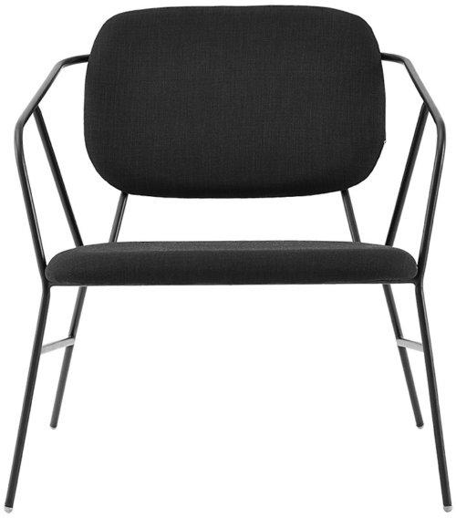 På billedet ser du variationen Lounge stol, Klever fra brandet House Doctor i en størrelse H: 75 cm. B: 70 cm. L: 70 cm. i farven Sort