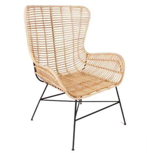 På billedet ser du variationen Loungestol, Opus, Ratta fra brandet Preform i en størrelse H: 103 cm. B: 73 cm. L: 60 cm. i farven Natur/Sort