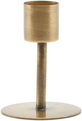 På billedet ser du variationen Lysestage, Anit, Stagelys fra brandet House Doctor i en størrelse D: 5 cm. H: 7 cm. i farven Messing