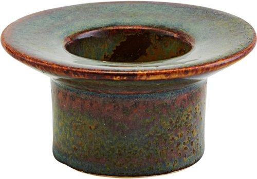 På billedet ser du variationen Lysestage, Miro, Roman earth fra brandet House Doctor i en størrelse D: 9,5 cm. H: 5 cm. i farven Mørkegrøn
