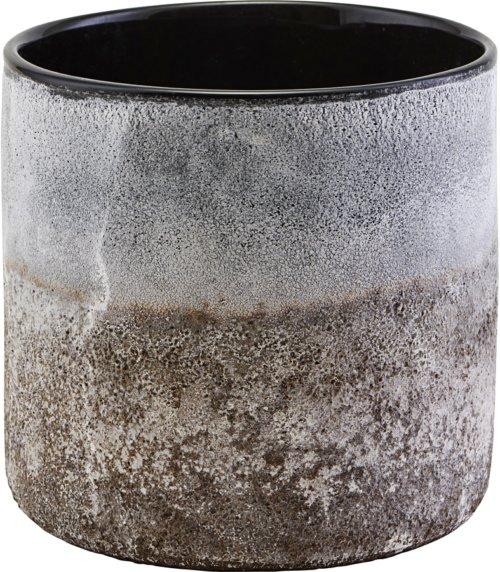 På billedet ser du variationen Lysestage, Rock fra brandet House Doctor i en størrelse D: 15 cm. H: 16 cm. i farven Lysegrå