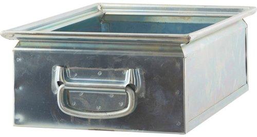På billedet ser du variationen Opbevaring, Box 2 fra brandet House Doctor i en størrelse 30 x 45 x 15 cm. i farven Stål