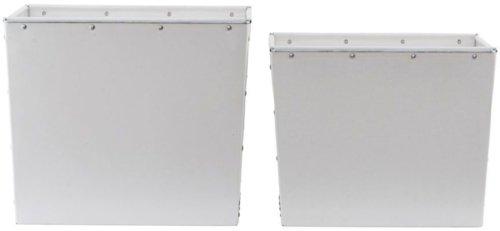 På billedet ser du variationen Opbevaring, Box fra brandet House Doctor i en størrelse S: 35x32 cm. x H: 26 cm. L: 40x35 cm. x H: 30 cm. i farven Hvid