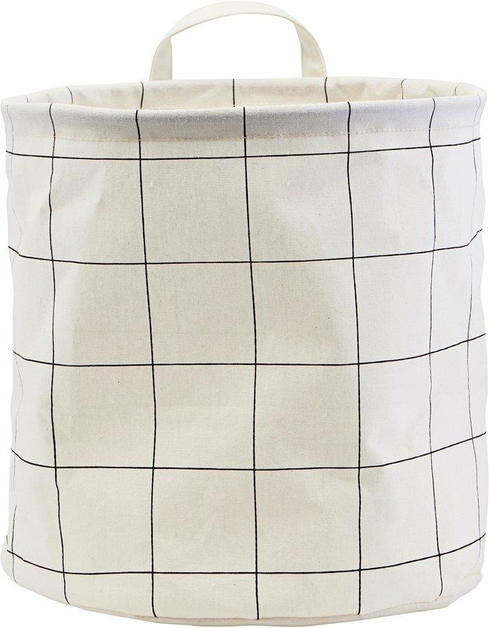 Image of   Opbevaring, Squares by House Doctor (D: 30 cm. H: 30 cm., Sort/Hvid)