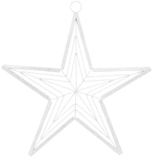 På billedet ser du variationen Ornament, Genna fra brandet House Doctor i en størrelse D: 21 cm. i farven Hvid/Sølv