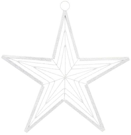 Image of   Ornament, Genna by House Doctor (D: 21 cm., Hvid/Sølv)