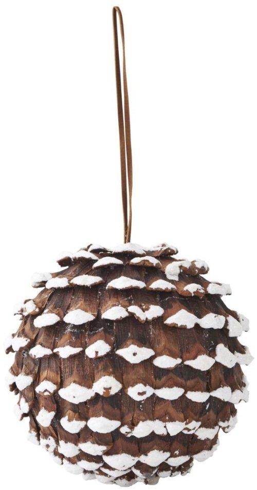 På billedet ser du variationen Ornament, Cone fra brandet House Doctor i en størrelse D: 25 cm. i farven Hvid/Brun