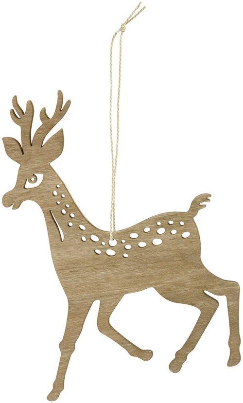 På billedet ser du variationen Ornament, Reindeer fra brandet House Doctor i en størrelse H: 15 cm. i farven Brun