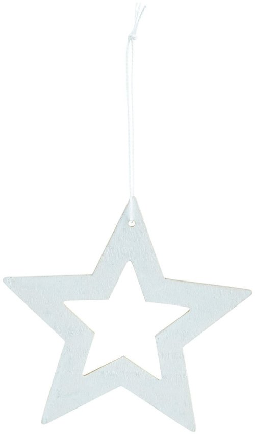På billedet ser du variationen Ornament, Stars fra brandet House Doctor i en størrelse D: 12 cm. i farven Hvid