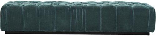På billedet ser du variationen Ottoman, Velvet fra brandet House Doctor i en størrelse 200 x 60 cm. x H: 40 cm. i farven Grøn