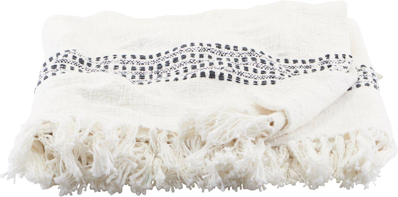 Plaid, Kolonia by House Doctor (B: 130 cm. L: 180 cm., Off-white)